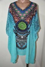 Sheer Chiffon Poly Embellished Kaftan  Digital Printed Size 14-16-18-20-22