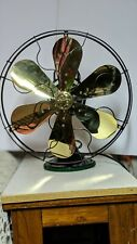 General Electric 16 In Brass Blade/Steel Cage 3 Speed Electric Fan. Working 1918