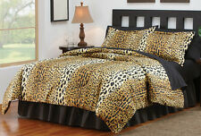 4 Piece Cheetah Print Bedroom Comforter Set  -Full