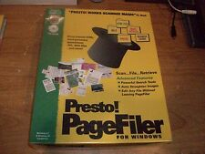 Presto! Page Filer Works Scanner Magic For Windows 95 CD ROM Software NEW