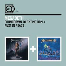 MEGADETH - 2 FOR 1: COUNTDOWN TO EXTINCTION/RUST IN PEACE 2 CD NEW+