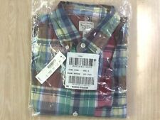 UNOPENED J.Crew Slim Indian Madras Shirt in Red and Teal Plaid | S | $59.50
