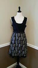 NWT $84 Modcloth Gourmet As Well Dress M Black Crochet Lace Boho Chic  A'Reve