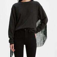 Ashley Crew LEVI'S crew Neck sweatshirt in Black Size Large