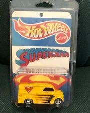 """HOT WHEELS FAN CUSTOMIZED 1965 DIVCO MILK TRUCK  SUPERMAN """"VAN OF STEEL - WOW!!"""