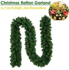 2.7M Christmas Decorations Ornaments Xmas Tree Garland Rattan Home Wall Pine