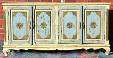 Cream Shabby Chic French Country Brass Fitted Sideboard Cabinet Buffet Storage