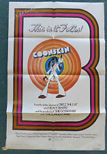 COONSKIN 1975 ORIGINAL 1 SHEET MOVIE POSTER RALPH BAKSHI BARRY WHITE