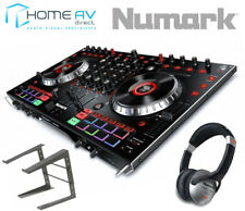 NUMARK NS6II 4 Channel DJ Controller USB DVS SERATO + Laptop stand & Headphones
