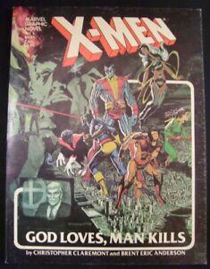 MARVEL GRAPHIC NOVEL 5 X-MEN GOD LOVES MAN KILLS GN COMIC 1ST PRINT 1982 FN
