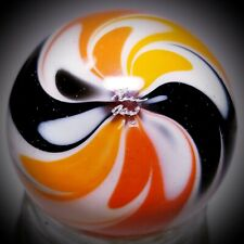 """Rick Davis~GORGEOUS FANCY FLAMES~Glass Marble 2012~SIGNED~42MM/1 & 1/2"""""""