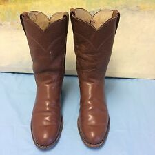 JUSTIN  WESTERN ROPER BROWN LEATHER 3802 BOOTS SIZE 6 B