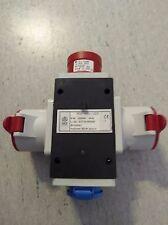 Mobiler-CEE-Verteiler ROP1653-Vz 1xCEE16 Stecker auf 2xCEE16 Kupplung + 1xSchuko