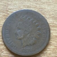 FREE SHIP! 1881 Indian Head Cent -130+ Year Old Penny - Old US Type Coin LT1