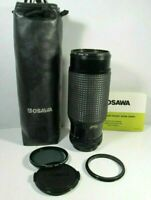 OSAWA MACRO ZOOM LENS 75-260mm (FOR CANON) FILTERS, RING & BOTH CAPS, SUN SHIELD