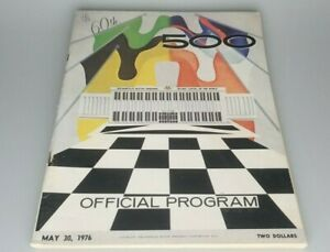 1976 INDY 500 Official Program 60th Running of INDIANAPOLIS Race & Start Grid