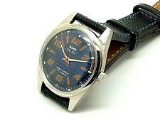 genuine hmt pilot hand winding men steel blue dial 17j vintage india watch run
