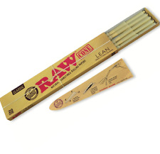 RAW Classic Natural Unrefined Pre Rolled 20 Cones Rolling Papers LEAN 110mm 4.3""