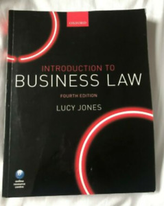 Introduction to Business Law by Lucy Jones (Paperback, 2017)