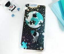 Cartoon Little Prince Galaxy Stars LED Flash Lighting Case Cover for iPhone 6 6s Earth Puzzle for iPhone 5 5s
