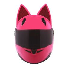 Motorcycle Helmet Women Cat Helmets Full Face Casque Moto Casco Cat Horns Yellow