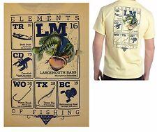 COLUMBIA PFG Men's Graphic Tee Shirt Elements Bass Fishing Boat Yellow 2XL NWT