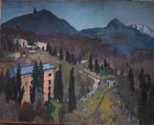 Russian Oil cardboard Impressionism Painting Landscape Demidov Aleksey а-2Crimea