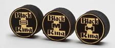 3 Black King Tips - Pool Cue Tips - Billiard Tips - Layered Pigskin - Like Kamui