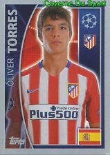 185 OLIVER TORRES ESPANA ATLETICO STICKER CHAMPIONS LEAGUE 2016 TOPPS