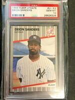 🔥🔥1989 Fleer Update Deion Sanders ROOKIE RC #U-53 PSA 10 GEM MINT Yankees🔥🔥