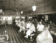 Vintage Barbers Antique Barber Shop Seven Chair Barber Shop Detroit MI Spitoons