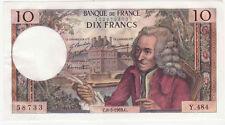 10 Francs Voltaire 08/05/1969 SUP ++  ( 166 )