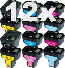 12x XL PATRONE  für HP-363 C6150 C6180 D6160 C6280 C7250 D7160 D7260 D7360 D7460