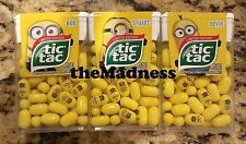 New Set of 3 Limited Edition Despicable Me Minions Tic Tacs Kevin Bob Stuart