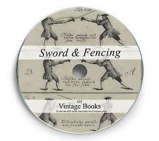 Rare Sword Fencing Books on DVD Samurai Rapier Sabre Broad Guard Broadsword 25