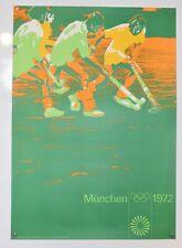 Original Vintage Olympics Poster - Field Hockey  - Munich 1972