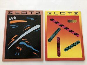 Vintage NOS 80s School Folders Binder SLOTZ New Wave Graphics