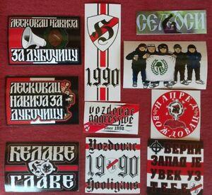 10 x Serbian  Football Ultras Stickers 4