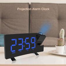 LED Projection Alarm Clock LCD Voice Talking Projector Temperature Calendar FM
