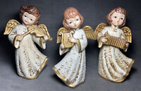 Beautiful Set 3 Vintage Christmas Angels Dickson Japan Accordion Violin Harp