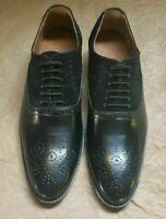 Scarpe da uomo bicolore in pelle scamosciata Oxford stringate nere in pelle scam