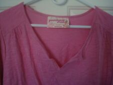 Avenue Precious Y-Neck Tunic Top Blouse Cotton knit Pink Plus Size 30/32 5x NWT