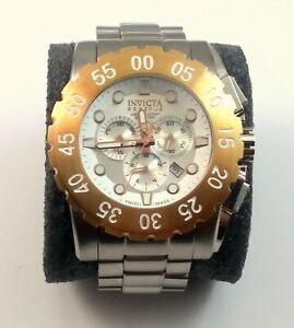 Invicta Men Reserve Swiss Made Chronograph Watch Model # 1958