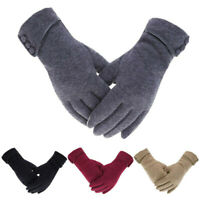 Women Winter Warm Touch Screen Windproof Gloves Fleece Lined Thermal Soft Gloves