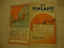 FINLAND STEAMSHIP COMPANY LTD CROISIERES PAQUEBOT 1938