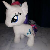 "Hasbro My Little Pony 2014 12"" Rarity Plush MLP Sparkle Unicorn Cool Rare R"