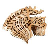 Pack de 10 arbres a copeaux de bois de Noel Ornements suspendus Decoration Q1S6