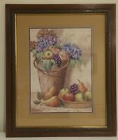 "Vintage Fruit & Flowers  Home Interiors Print by Josh Cole. 23.5"" H x 19.5"" W"
