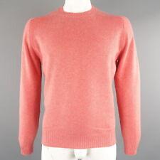BRUNELLO CUCINELLI Size 42 Salmon Knitted Cashmere Crew-Neck Sweater
