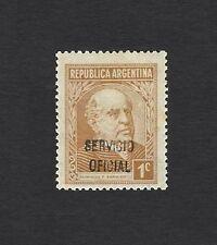Argentina #419 1935 1c Sarmiento with SERVICIO OFICIAL handstamped overprint MNH